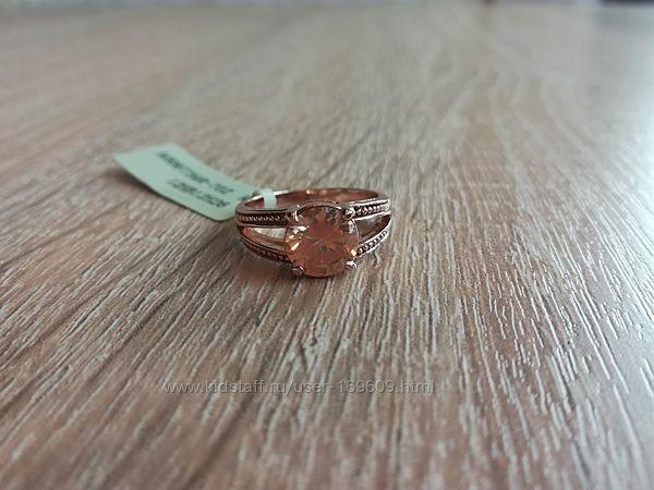Кольцо с крупным агатом от Viennois. Шикарное. Разм. 17.