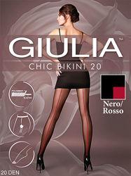 Колготки с ажурными трусиками шов Chic 20 Bikini