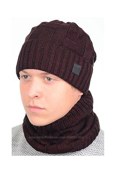 Набор шапка хомут зима
