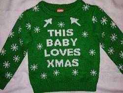 Яркий свитерок на 1,5-2года р.86-92 Состояние отличное