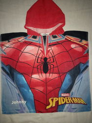 Яркое детское полотенце-пончо Spiderman