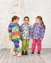 Детская демисезонная куртка весенняя на флисе штаны детские непромокаемые