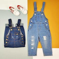 Детский стильный джинсовый комбинезон для мальчика комбинезон для девочки