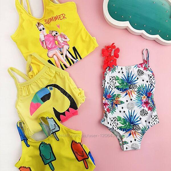 Детский купальник для девочки на девочку сдельный купальник цельный