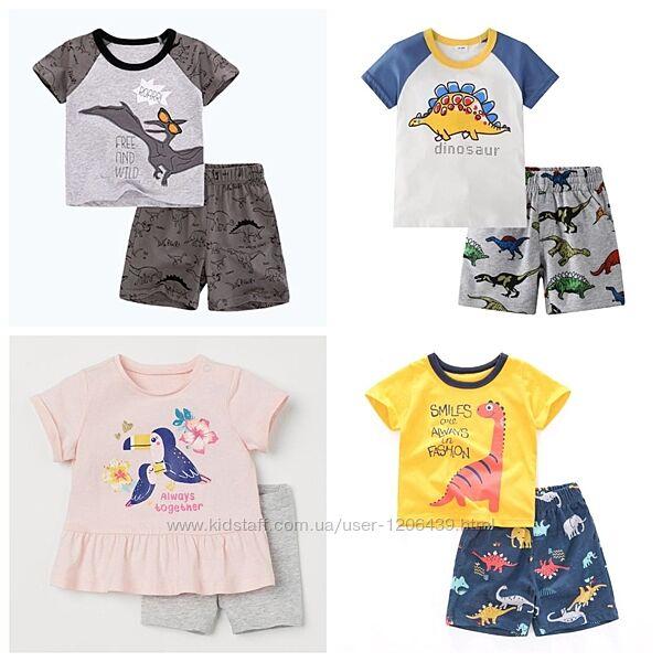 Детский летний комплект на мальчика, костюм летний для мальчика футболка