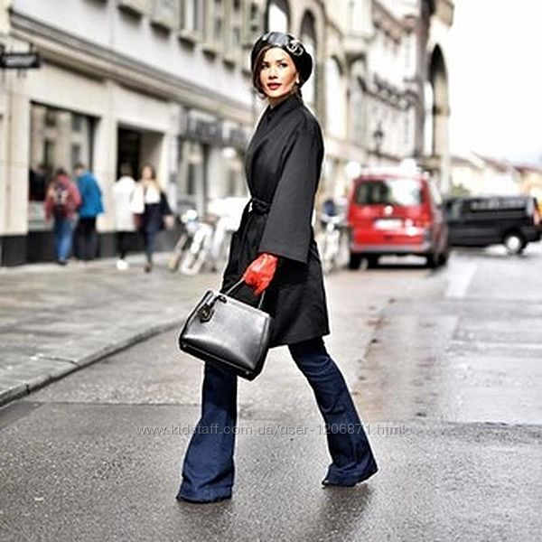 кожаные перчатки с утеплителем H&M