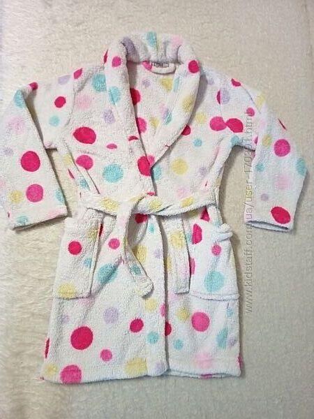 махровый халатик девочке 4 - 6 лет