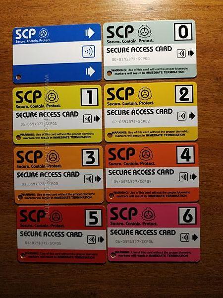 Игровые комплекты карт доступа SCP Foundation