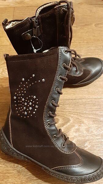 Сапожки ботинки детские DPAM Франция кожа замша 30 размер для девочки