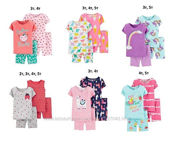 Пижамы с шортами carters 2т, 3т, 4т, 5т