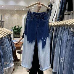 Оригинальные джинсы прямого кроя