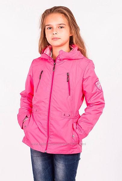 110р  Куртка-ветровка 2в1 для девочки