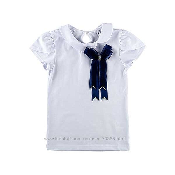 Блуза футболка с бантом   Смил