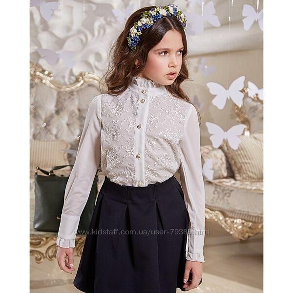 Нарядная блуза для школьницы Николет ТМ Suzie