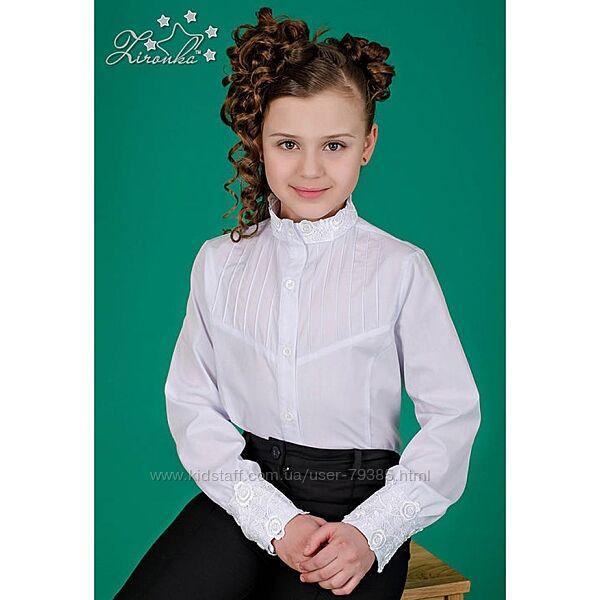 Блуза белая для школьницы ТМ Зиронька модель 3539