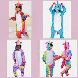 Пижама новогодние кигуруми для детей Единороги разных цветов в ассортименте