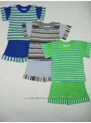 новый 28, 30, 32, 34 на 2-3-4-5-6 мальчика костюмчик футболка и шор
