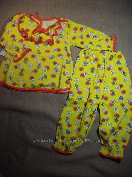 пижамки мальвинка для девочек , начес, жатка новые