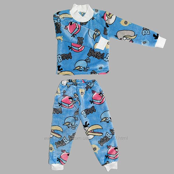 нова махра от 1-12 лет теплая махровая пижама травка
