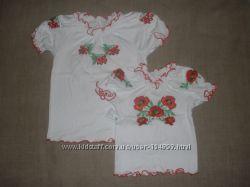 вышиванка нова от 2-10 лет вишиванки для дівчаток