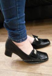 Туфли черные натуральная кожа состояние отличное