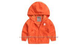 куртка плащевка на малышей в наличии оранжевая ветровка