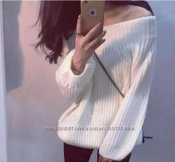 Объемный свитер в наличии 3 цвета хомут крупной вязки