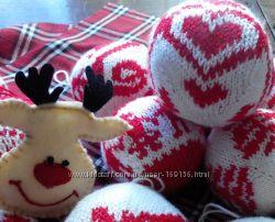 шарики вязанные новогодние игрушки