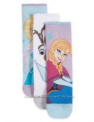 Очень красивые носочки Disney Frozen от Marks and Spencer. Упаковка 3 пары.