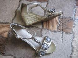 Женские босоножки, сандали фирмы Next, 37 размер, плетенная подошва