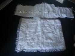 бортик, одеяльце и наматрасник в детскую кроватку