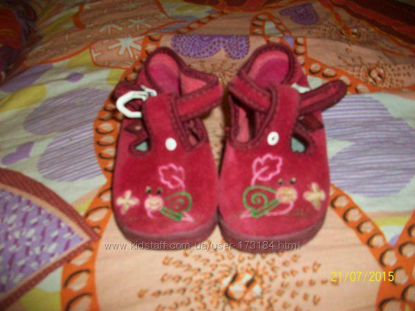 Текстильные велюровые туфельки, тапочки Zetpol р18