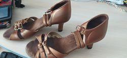 Танцевальные туфли, бронза, латина, танцев