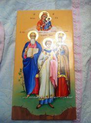 Мерная крестильная икона, семейные иконы, под заказ