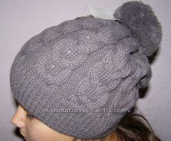 Шапки  4 . Цвет темно-серыйОсень-зима. В наличии