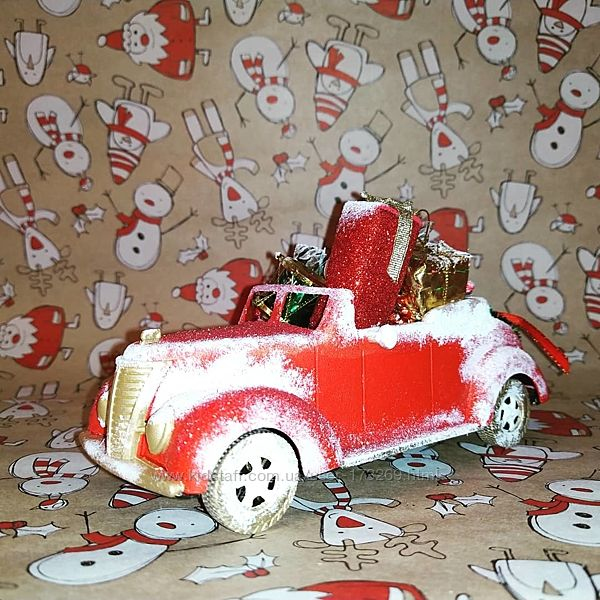Машинка новогодняя, ручная работа.