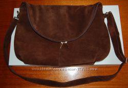 Замшевая сумка Энни, цвет шоколад Солди