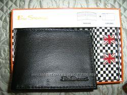 Кожаное портмоне и запонки - отличный подарок мужчине