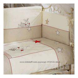 Постельный комплект и защита на кровать Feretti Ricordo Ecru 6 элементов