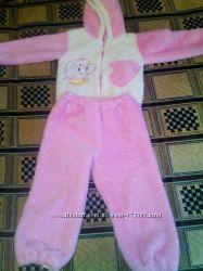 Тепленькая махровая пижама для дома и сна