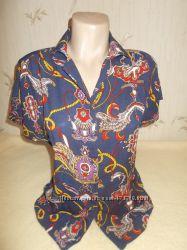 яркая блуза с принтом р. L