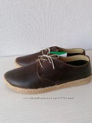 Стильные мужские эспадрильи туфли мокасины inblu. кожа. Распродажа.