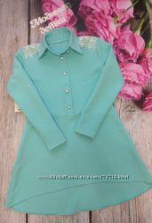 Нарядное платье-рубашка