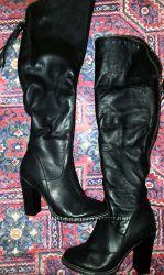 Супер зимние кожаные ботфорты 38р