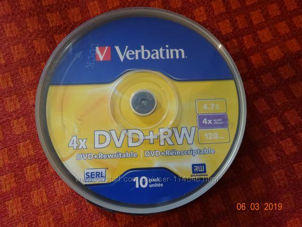 Упаковка дисків Verbatim 4x DVDRW