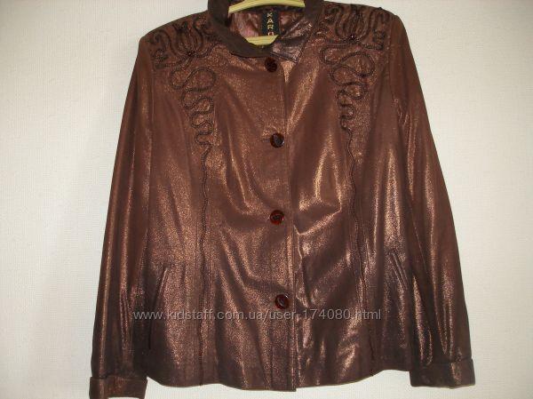 Новая кожаная курточка -жакет