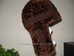 очень стильная и интересная шапка-ушанка