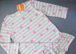 Тоненькое платье - туника в сердечки на подростка Gymboree оригинал Америка