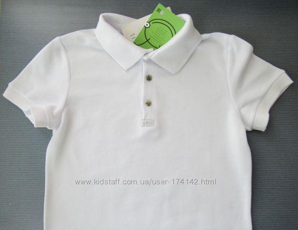 Поло белое на подростка 164, 170 размеры, SMIL Украина, качество