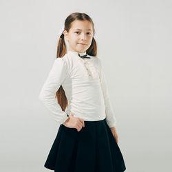 Школьная блузка белая 116, 122 размер, SMIL Украина качество